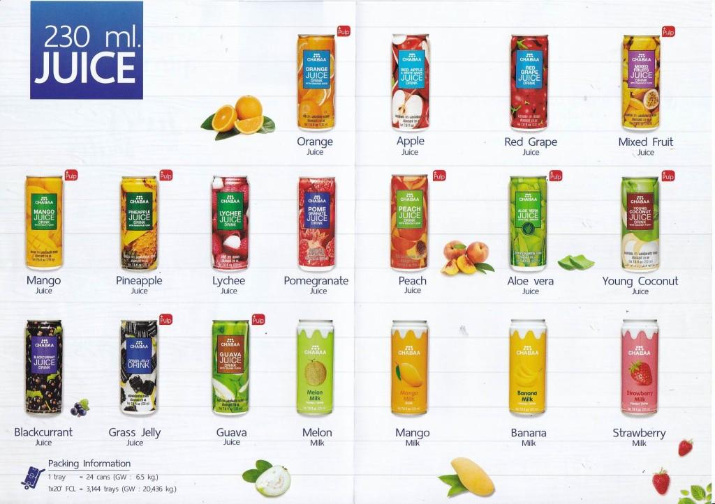 Chabaa Juices Range 230 ml Can